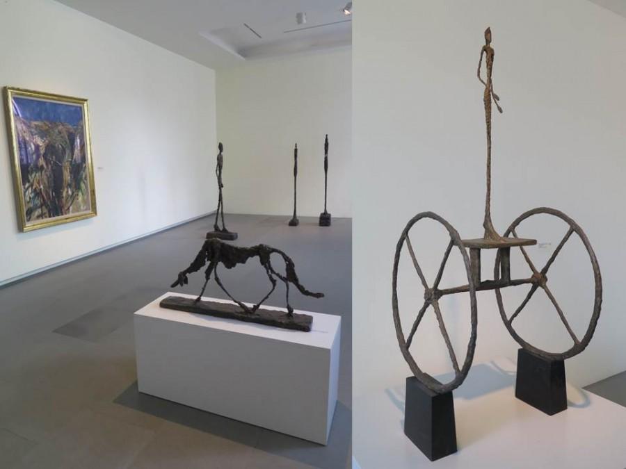 Alberto Giacometti, vpravo: