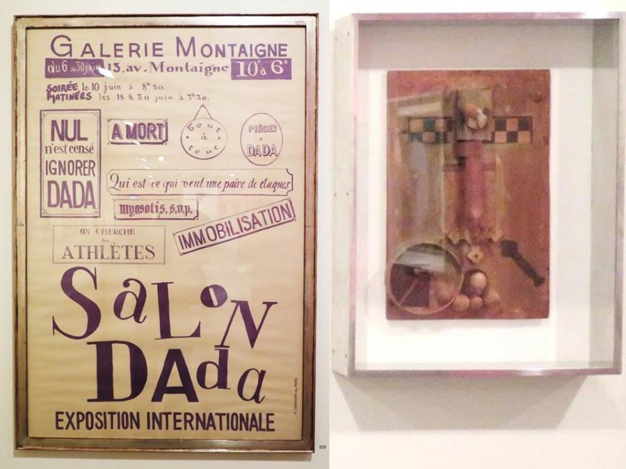 Plakát od Tristan Tzary k mezinárodní výstavě Dada, 1921, Tzara používá výkřiky: