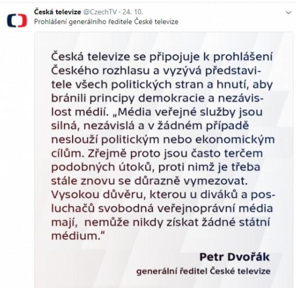 ČT, Twitter