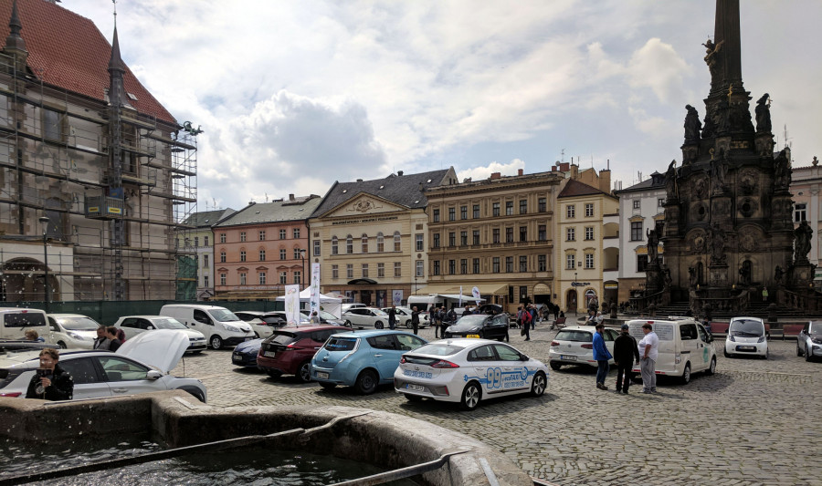 Sraz elektromobilistů v Olomouci 2019