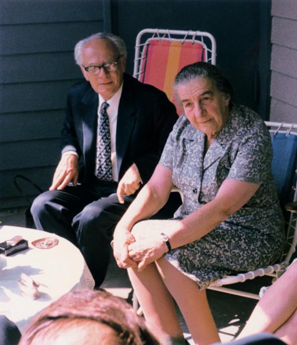 Fischl a ministerská předsedkyně Golda Mayerová