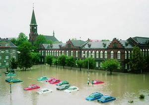 Náměstí T. G. Masaryka v centru Bohumína zaplavila v roce 1997 tisíciletá voda. V roce 2010 zažil Bohumín povodeň znovu, tentokrát