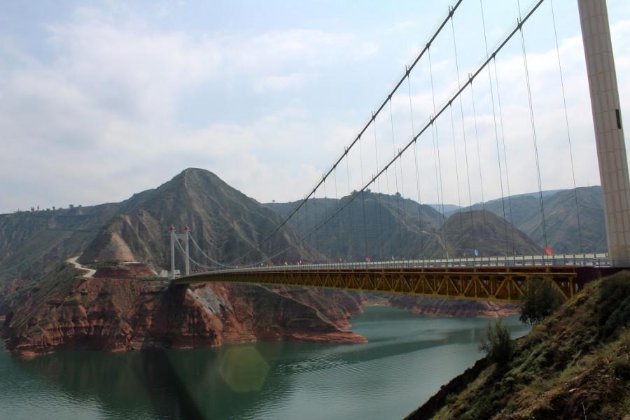Most přes jeden z přítoků Žluté řeky Chuang Che