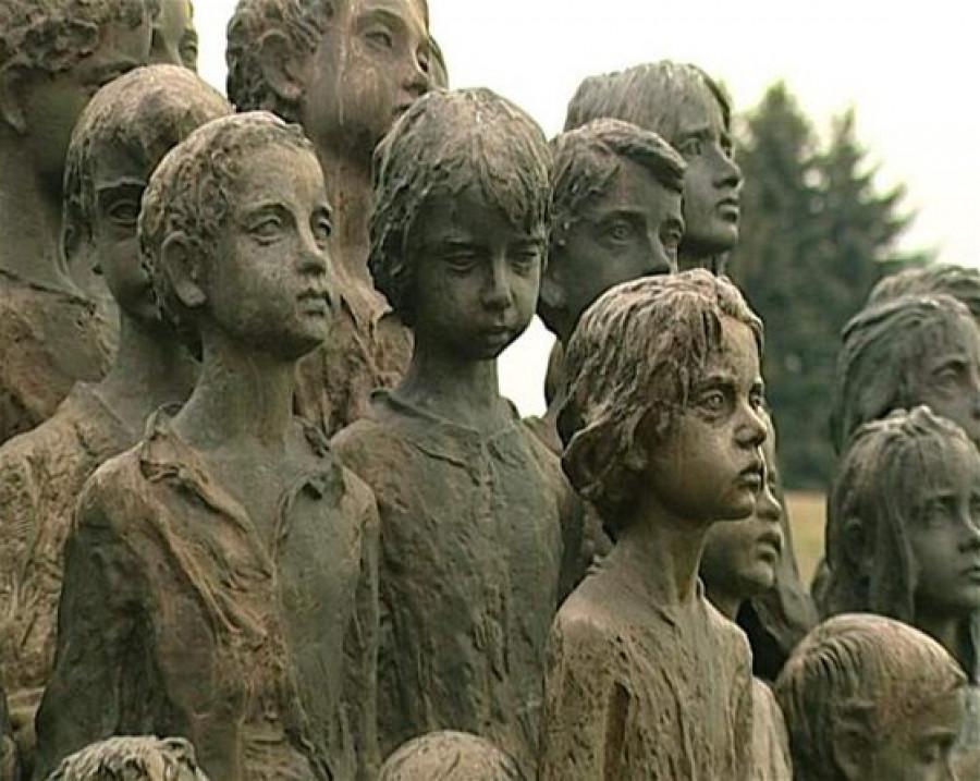 Sousoší lidických dětí - ilustrační foto