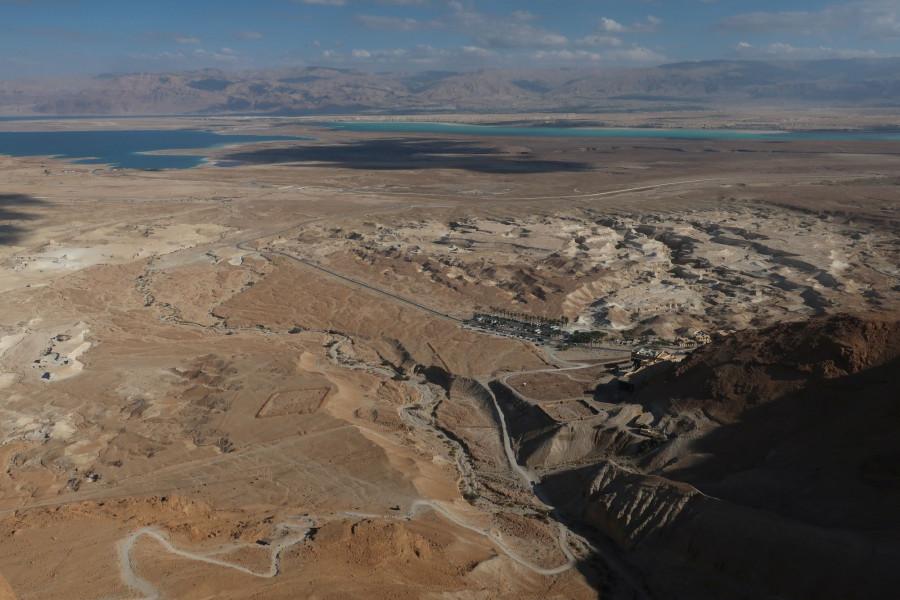 Výhled z jižní strany Masady