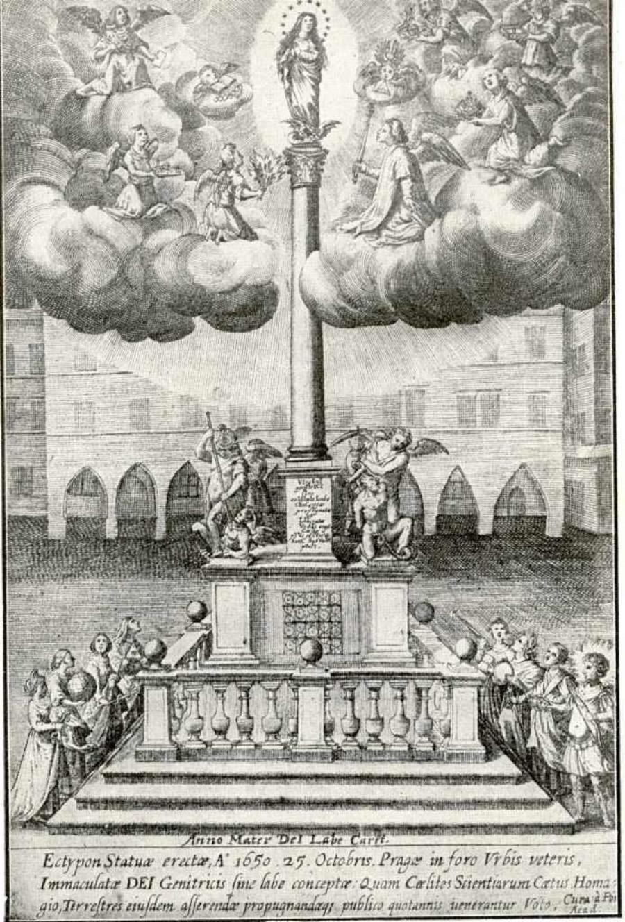 Původní mariánský sloup v Praze