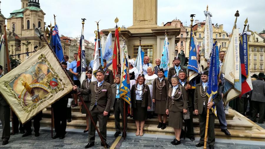 Požehnání mariánskému sloupu v Praze