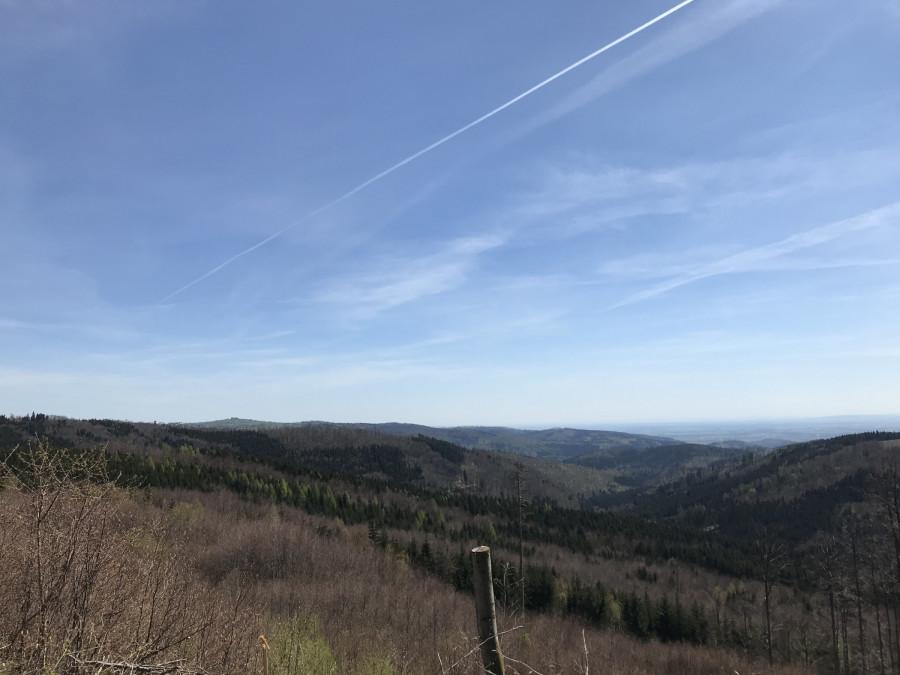 Pohled do údolí.
