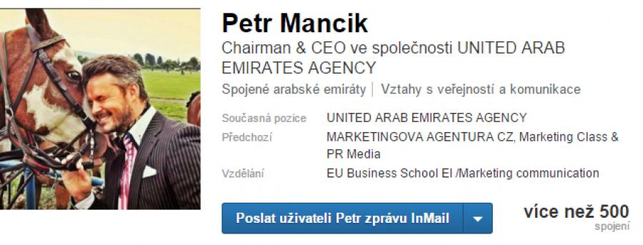 Náhled LinkedIn profilu