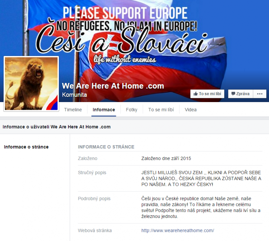 Náhled FB stránky