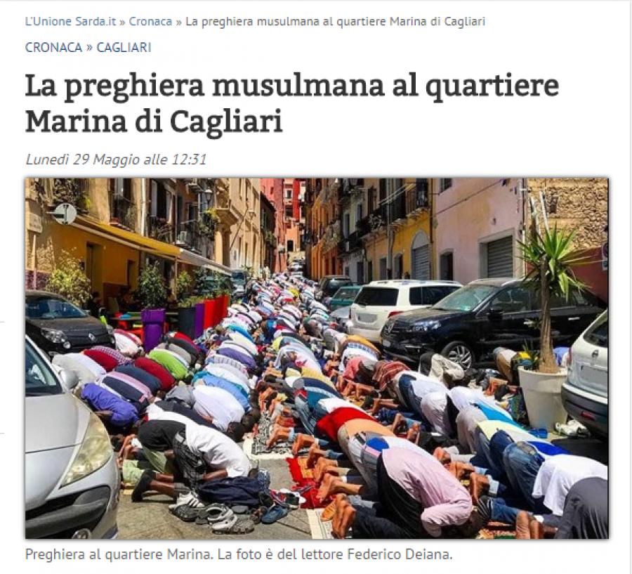 Cagliari - Sardínie: páteční motlitba