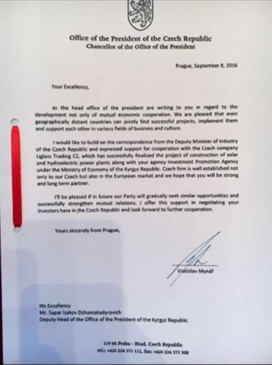 Mynářův dopis
