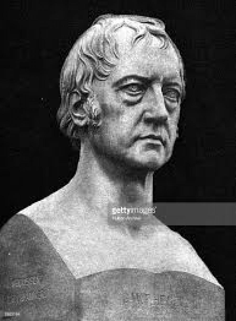 Georg Wilhelm Friedrich Hegel, 1770 - 1831, německý filozof, tvůrce teorie dialektiky. Jako prvý vytýčil úkol vypracovat celkové dialektické pojetí světa, tj. přírody, dějin i myšlení. Rozpracoval teorii rozporu, zákony dialektiky, spojil však svou vrcholnou dialektiku s idealistickým přístupem ke světu a odmítl materialismus. K jeho důležitým přínosům patří princip