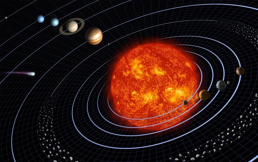 Efemeridový čas je čas typu pozadí, vypočtený z pohybů všech gravitačně významných objektů Sluneční soustavy.