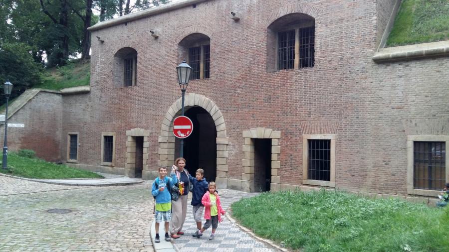 Cihelná brána z vnitřní strany pevnosti