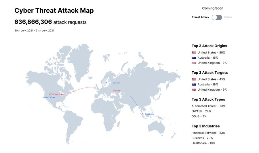Mapa kybernetických útoků