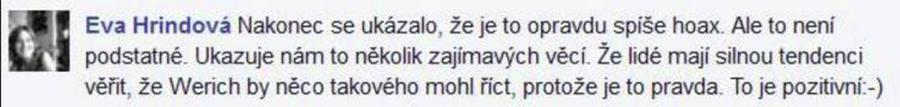 Vyjádření Evy Hrindové