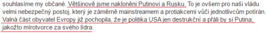 Putin mírotvorce