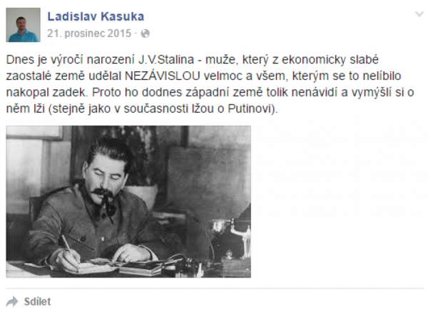 Stalin poprvé