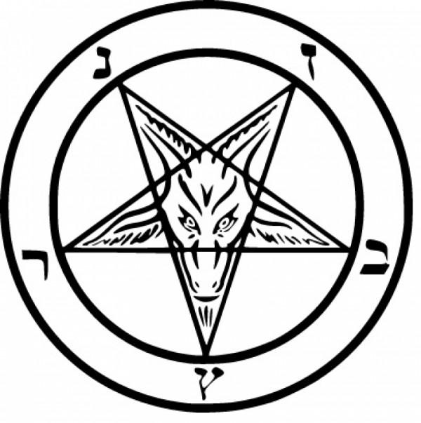 Obrácený pentagram - Bafomet