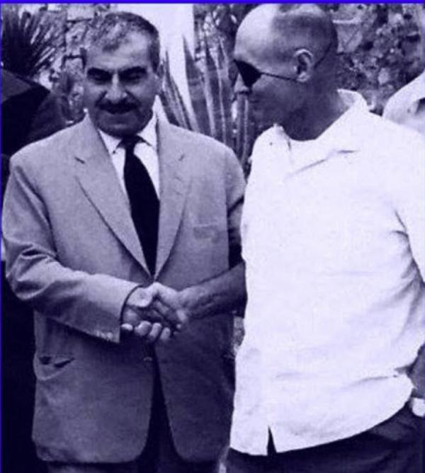 M.Barzani with Moshe Dayan(Tel Aviv-1968)