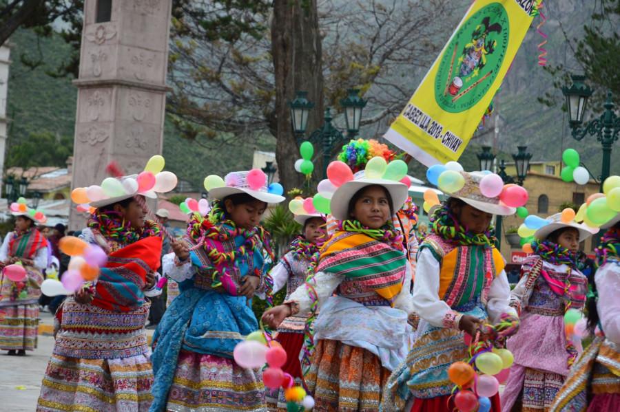 Karneval v městu Chivay