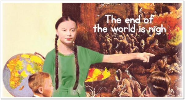 Sv. Gréta káže – konec světa je blízko. Prý jí to někdo řekl.