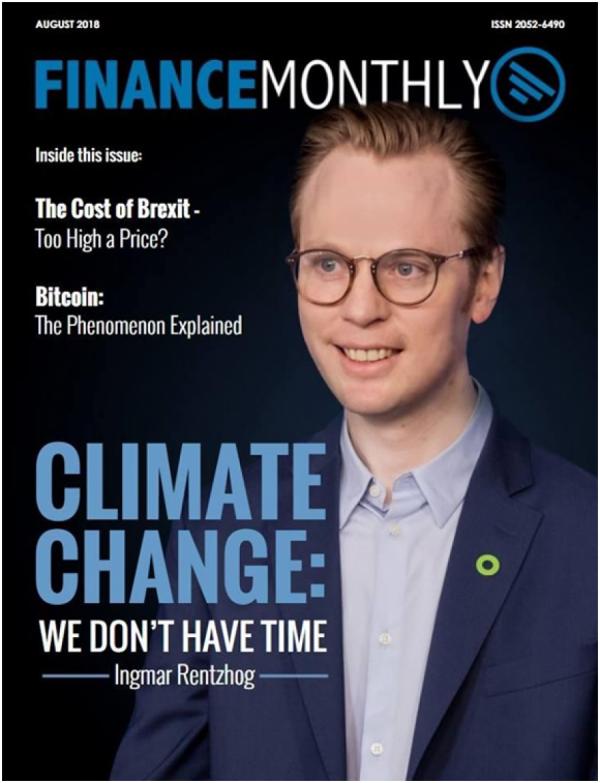 Ingmar Rentzhog a jeho We Don't Have Time na obálce časopisu finančníků.