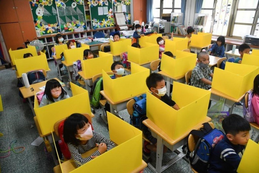 Tchajwan: Škola s ochranou před viry