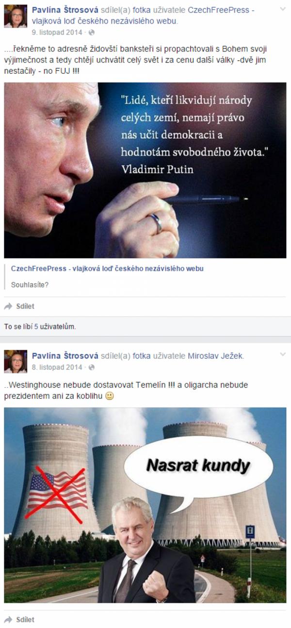Výřez z FB profilu 2