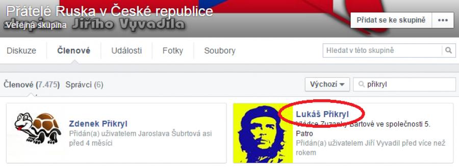Seznam členů FB skupiny