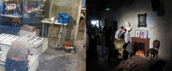 historie se opakuje,  5.února 2016, v den zachájení oslav se v 'Cabaret Voltaire' ještě horečnatě pracuje na interiéru