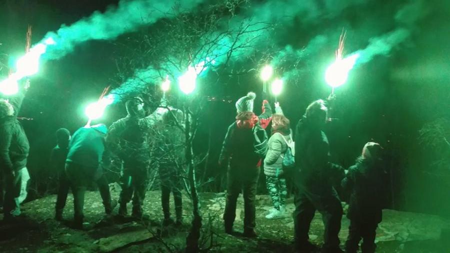 Světelné signály z Hradiště u Černovic