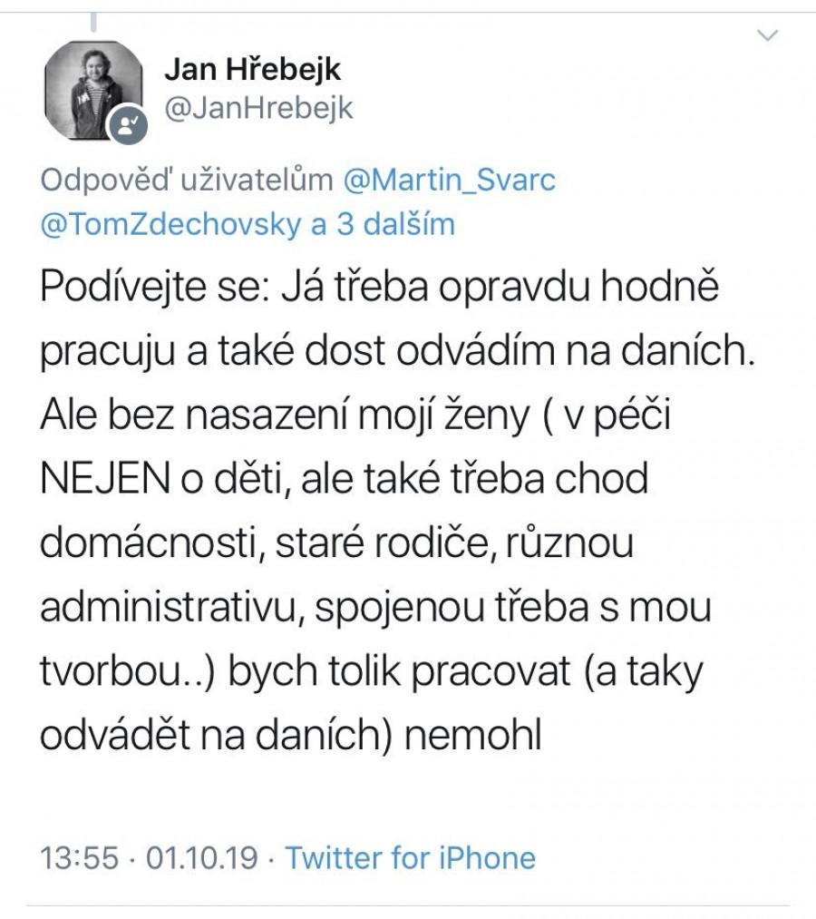 Jan Hřebejk na své situaci ukazuje, že ani s jeho manželkou to není černobílé.