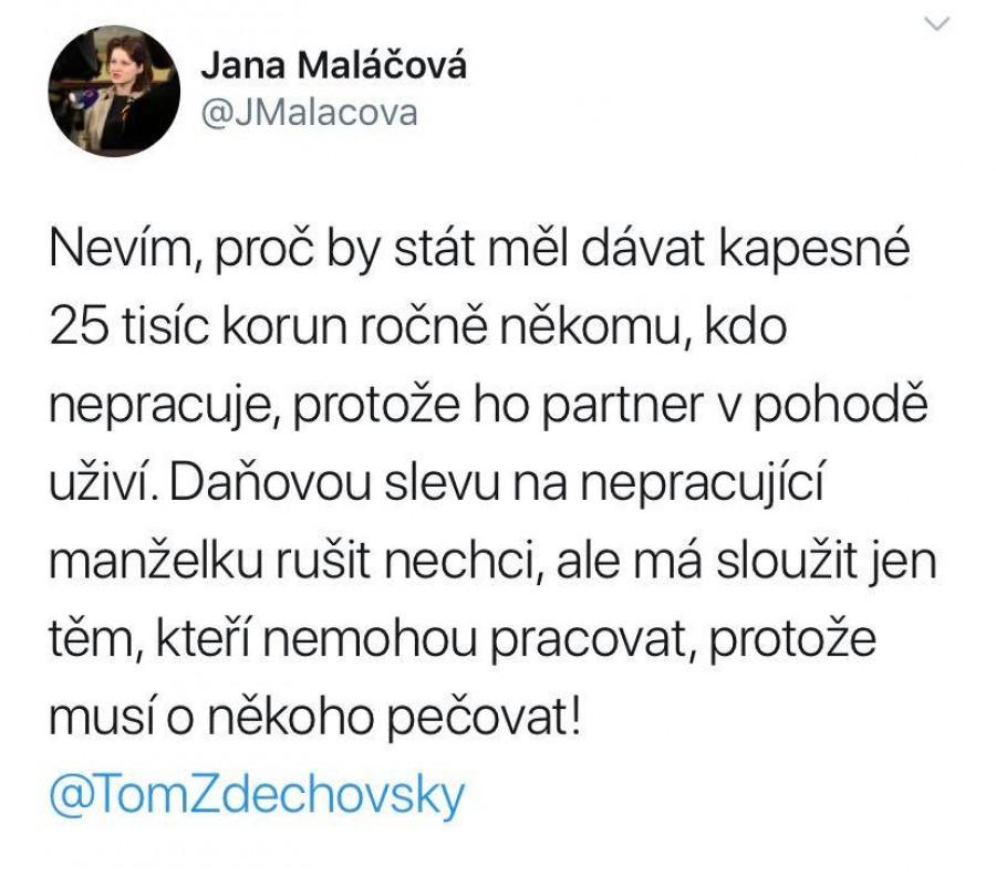 Odpověď ministryně Maláčové na můj nesouhlas s návrhem, který prakticky dělá z žen v domácnosti parazity.