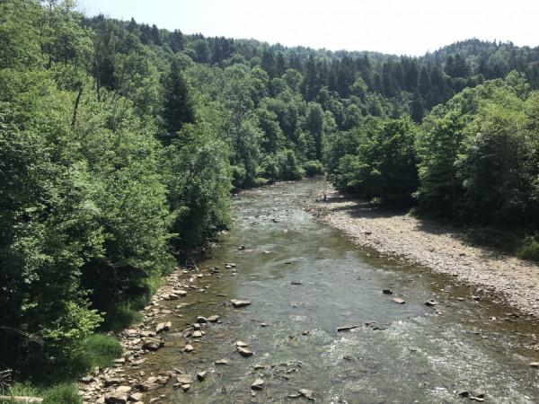 Řeka Solina.