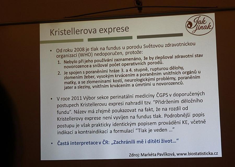 Kristellerova exprese očima organizace Jak jinak