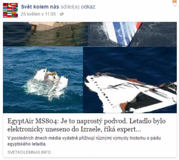 Letadlo elektornicky uneseno
