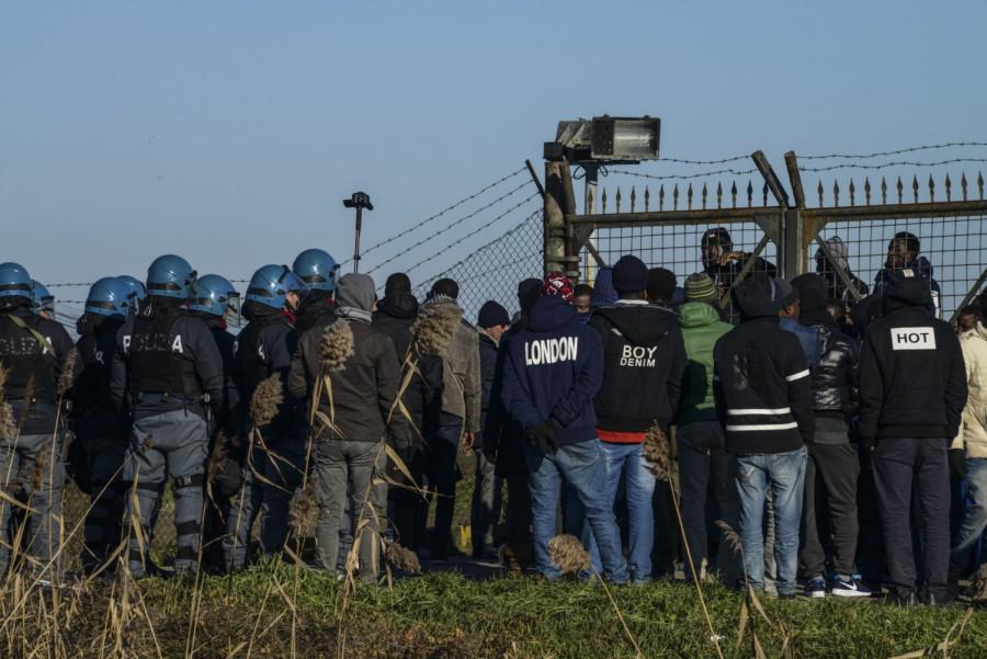 Protest imigrantů : Conetta