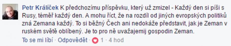 Uvažajemij gospodin Zeman