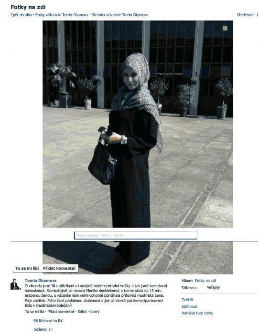 Monika v hidžábu