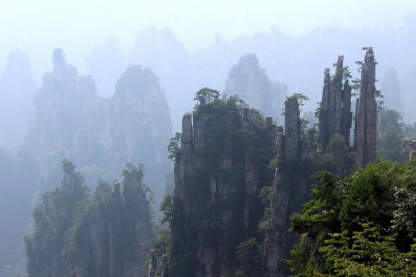 Tento shluk skalních věží má představovat štětec starého mistra malíře