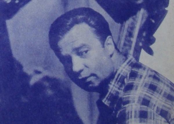 Vladimír Menšík na plakátu k filmu Klec pro dva (1967)