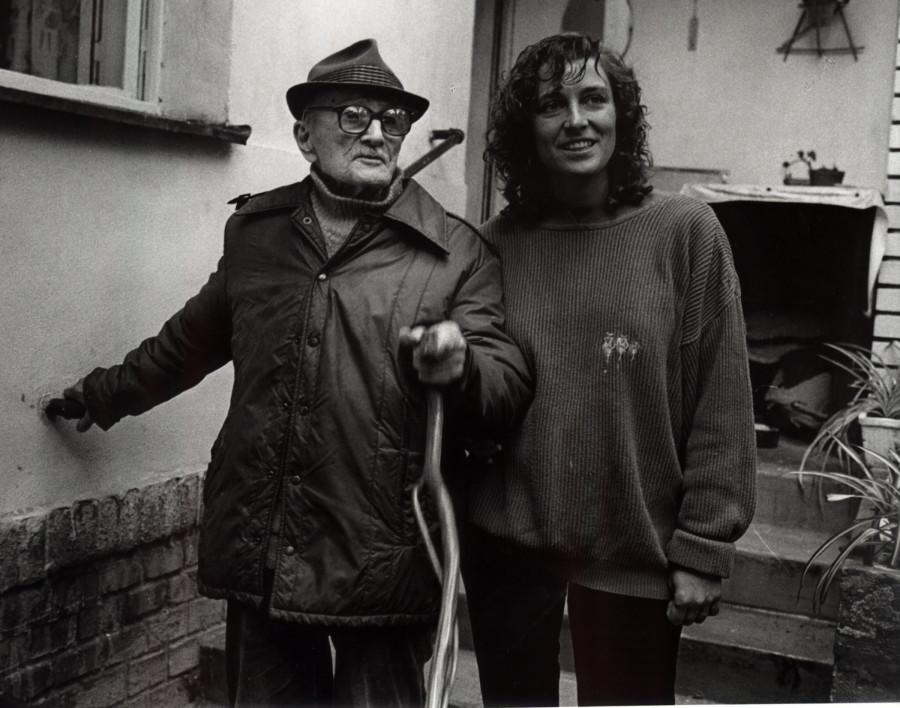 Dana Emingerová a stoletý děda Jaromír