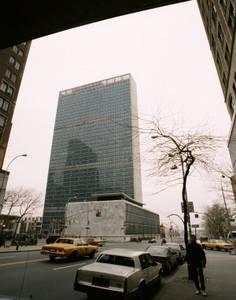 OSN v New Yorku, kde se odehrává i libyjské dějství...