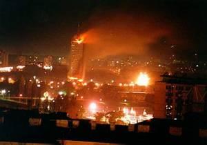 Snímek z Bilehradu. To není druhá svitová válka a bomby nimeckých fašistu. To je rok 1999 a rakety NATO.