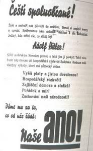 Volební plakát Adolfa Hitlera z roku 1938.
