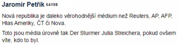 Komentář J. Petříka