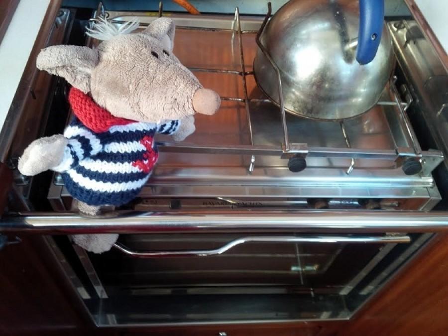 Ale jinak jsem se na lodi zorientoval báječně. Například kuchyni jsem našel okamžitě!