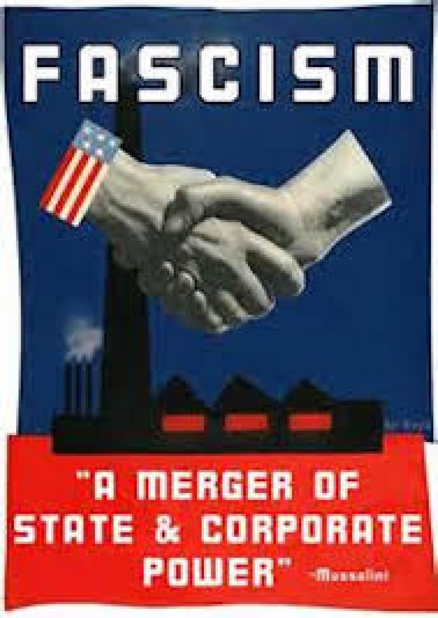 Fašismus: Splynutí moci státu s mamutími trusty a korporacemi